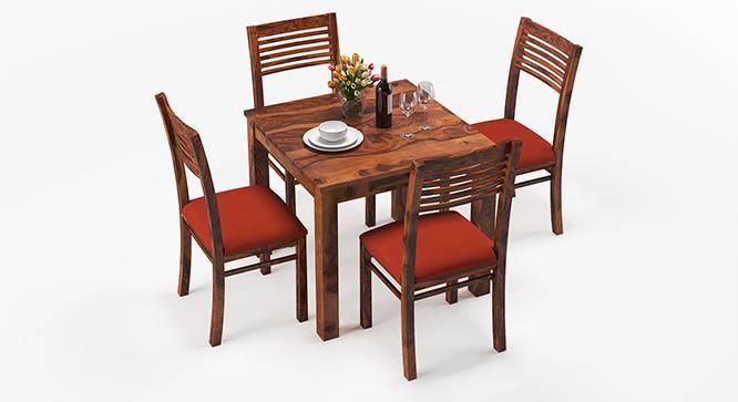 Arabia - Zella 4 Seater Storage Dining Table Set (Teak Finish, Burnt Orange) by Urban Ladder