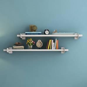 Ryter Shelves - Set Of 2 (White, 3.5' Shelf Width)