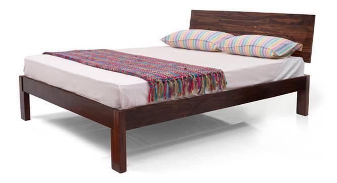 Boston Complete Bedroom Set (Teak Finish, King Bed Size) by Urban Ladder