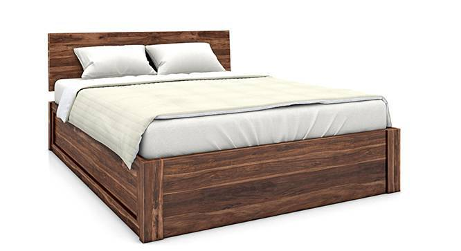 Boston Complete Hydraulic Bedroom Set (Teak Finish, Queen Bed Size) by Urban Ladder