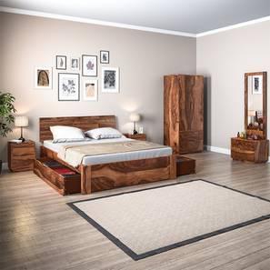 Boston Complete Storage Bedroom Set (Teak Finish, King Bed Size) By Urban  Ladder