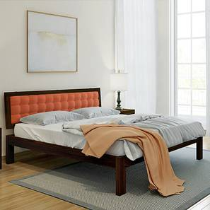 Florence Bed (Mahogany Finish, King Bed Size, Lava) by Urban Ladder