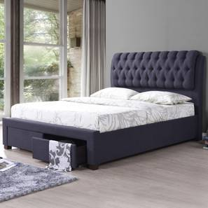 Merveilleux Cassiope Upholstered Storage Bed (Queen Bed Size, Charcoal Grey) By Urban  Ladder