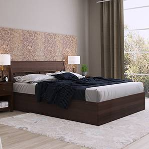 Myers Hydraulic Storage Bed (Walnut Finish, Queen Bed Size)