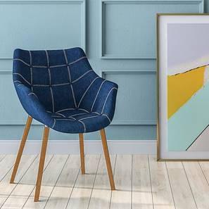 Reden Lounge Chair (Blue Jeans) by Urban Ladder