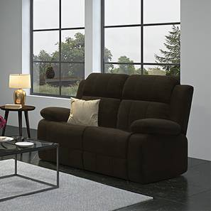 Robert Two Seater Recliner Sofa (Coffee Brown Fabric)