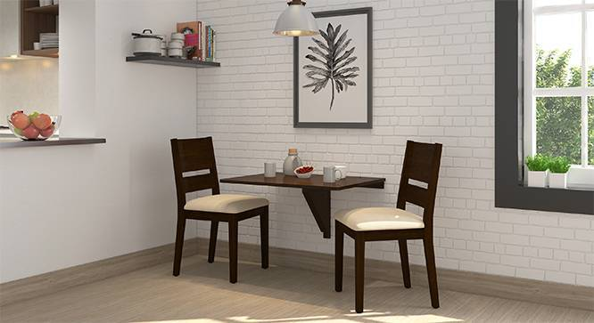 Ivy Cabalo Fabric 2 Seater Wall Mounted Dining Table Set