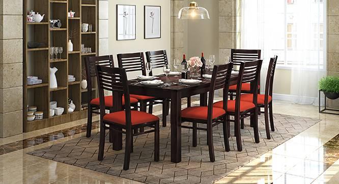 Zella Dining Chairs - Set of 2 (Mahogany Finish, Burnt Orange) by Urban Ladder