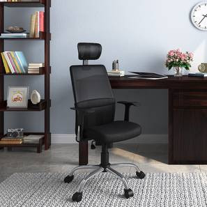 Hugo Study Chair With Lumbar Support (Black)