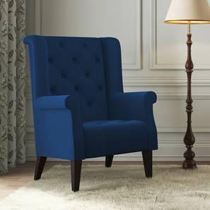 Newberry Wing Chair (Blue Velvet)