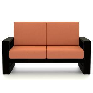 Parsons wooden Sofa 2 seater (Mahogany Finish, Amber) by Urban Ladder
