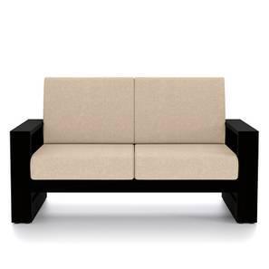 Parsons wooden Sofa 2 seater (Mahogany Finish, Macadamia Brown) by Urban Ladder