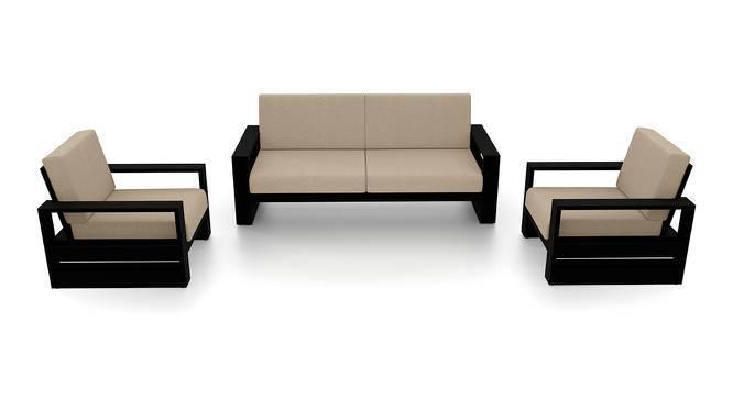 Parsons Wooden Sofa – 3-1-1 Set (Mahogany Finish, Macadamia Brown) by Urban Ladder