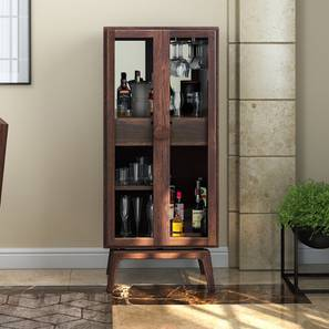 Exceptional Boisdale Bar Cabinet (Walnut Finish) By Urban Ladder