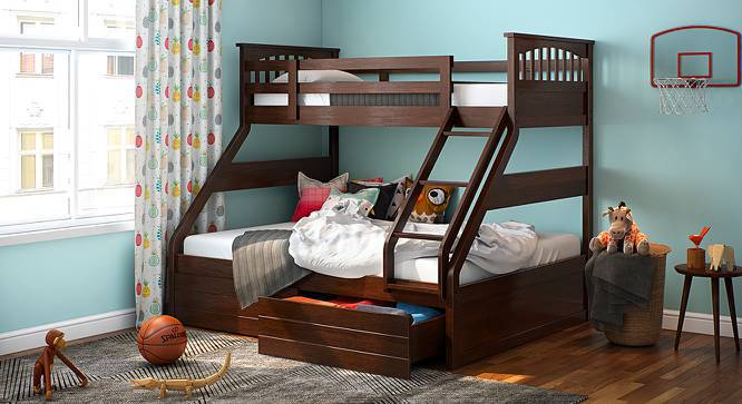 Gentil Barnley Single Over Queen Storage Bunkbed