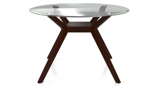 Wesley 4 Seater Round Glass Top Dining Table Urban Ladder