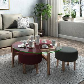 Cayman Coffee Table Set (Teak Finish)