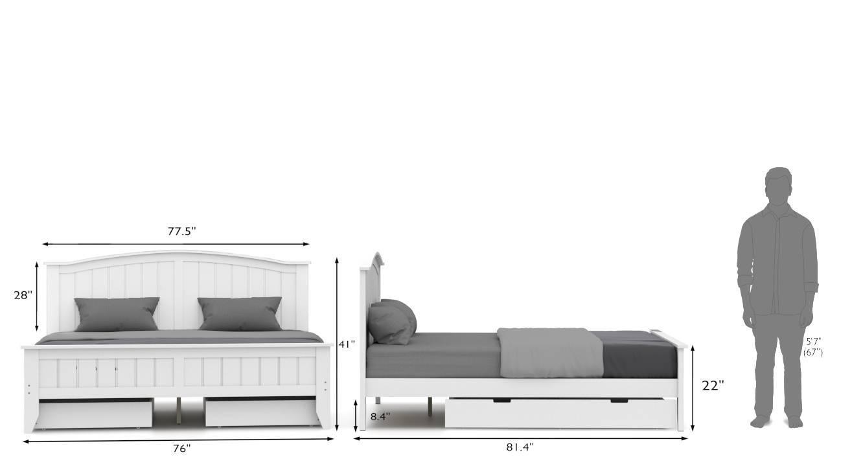 Wichita evelyn storage compact bedroom set white king 26