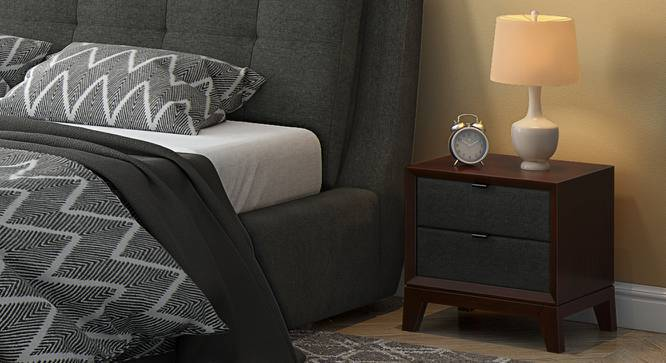 Martino Upholstered Bedside Table - Martino Bedside Table Grey