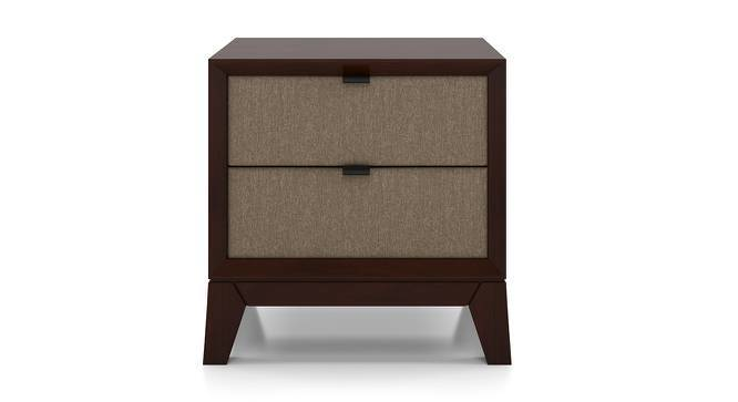 Martino Upholstered Bedside Table - Martino Bedside Table Brown