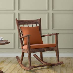 Atticus Rocking Chair (Teak Finish, Amber) by Urban Ladder