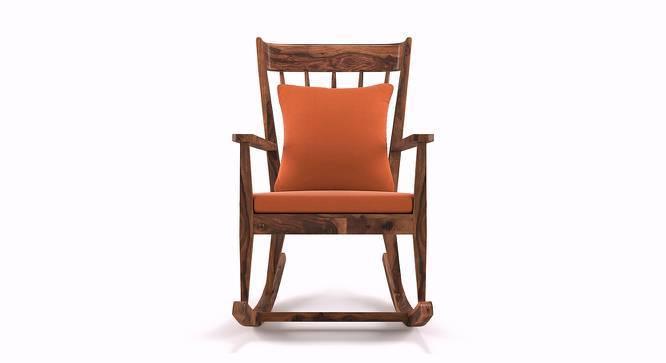 Atticus Rocking Chair (Teak Finish, Amber) by Urban Ladder