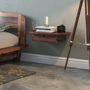 Tahiti Wall Mounted Bedside Table (Teak Finish)
