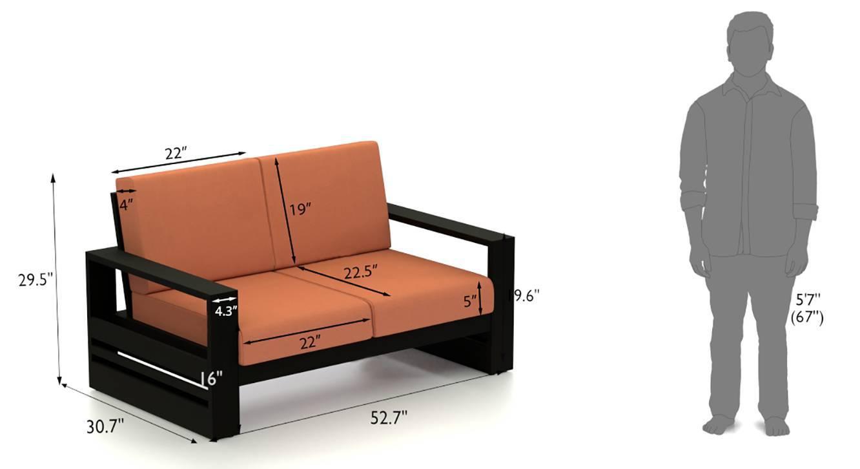 Parson wooden sofa set brown 17