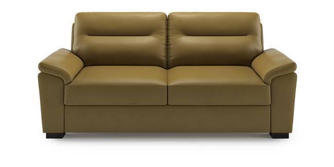 Adelaide Leatherette Sofa (Butterscotch) (1-seater Custom Set - Sofas, None Standard Set - Sofas, Butterscotch, Leatherette Sofa Material, Compact Sofa Size, Soft Cushion Type, Regular Sofa Type)