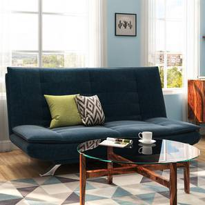 Edo Sofa Cum Bed (Blue) by Urban Ladder