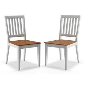 Diner Dining Chairs - Set of 2 (Golden Oak Finish) by Urban Ladder
