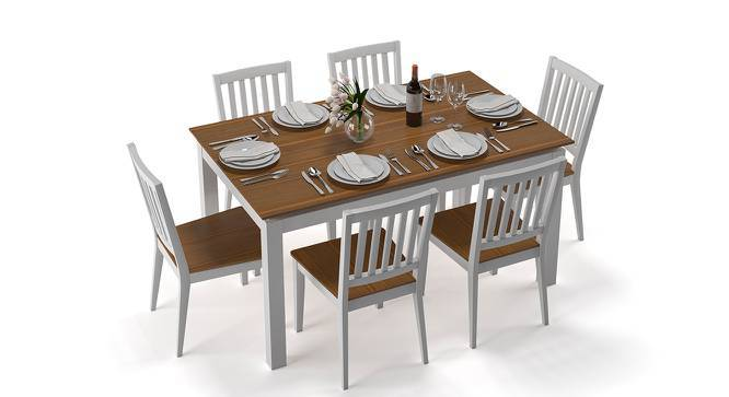 Diner 6 Seater Dining Table Set (Golden Oak Finish) by Urban Ladder