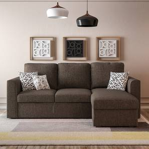 Modern Living Room Furniture Designs. Kowloon Sectional Sofa Cum Bed With  Storage (sand Brown