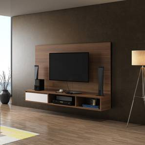 Iwaki Swivel 59 TV Unit Walnut Finish By Urban Ladder