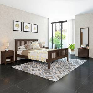 Athens - Evelyn Compact Bedroom Set (Queen Bed Size, Dark Walnut Finish) by Urban Ladder