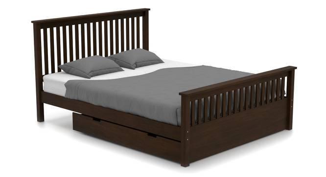 Athens Evelyn Storage Master Bedroom Set (Queen Bed Size, Dark Walnut Finish) by Urban Ladder