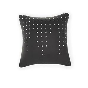 "Of The Grid Cushion Covers - Set Of 2 (16"" X 16"" Cushion Size, Black Dot Pattren)"