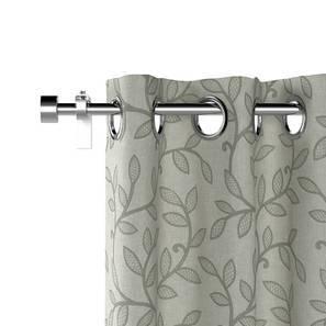 "Foglia Curtains - Set Of 2 (Grey, Door Curtain Type, 52""x84"" Curtain Size)"