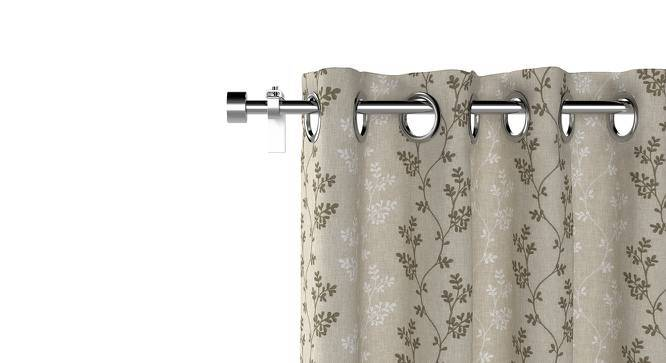 "Moringa Embroidered Curtains - Set Of 2 (Beige, Door Curtain Type, 52""x84"" Curtain Size) by Urban Ladder"
