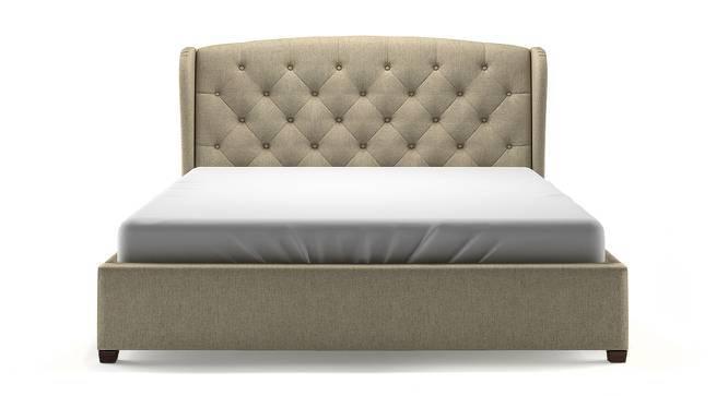 Holmebrook Upholstered Essential Bedroom Set (King Bed Size, Mist Brown) by Urban Ladder