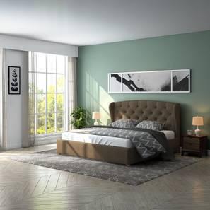 Holmebrook Upholstered Essential Bedroom Set (King Bed Size, Mist Brown)