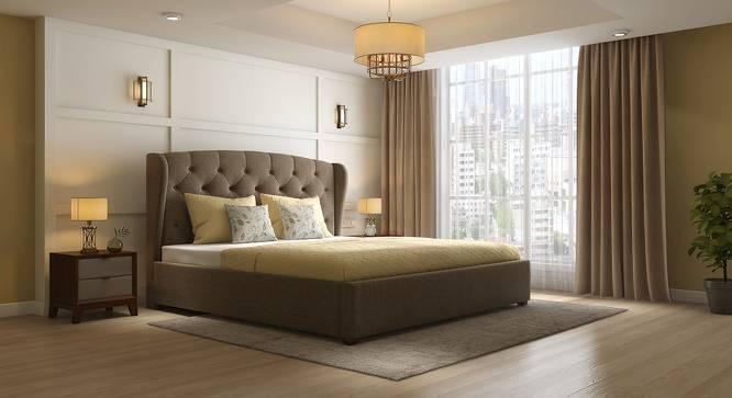 Holmebrook Upholstered Essential Bedroom Set (Queen Bed Size, Mist Brown) by Urban Ladder