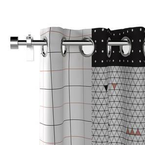 "Of The Grid Curtains Set 1 (Door Curtain Type, 52""x84"" Curtain Size)"