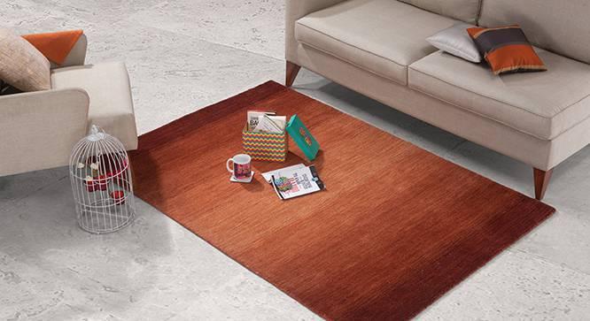 "Aurora Hand Loom Carpet (60'' x 93"" Carpet Size, Paprika Red) by Urban Ladder"