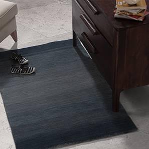 """Aurora Hand Loom Carpet (48"""" x 72"""" Carpet Size, Royal Blue)"""