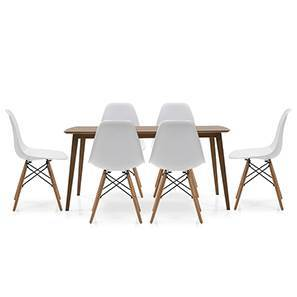 Eastwood - DSW 6 Seater Dining Set (Walnut Finish)