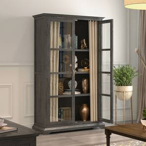 Eleanor Armoire (Vintage Grey Oak Finish,  Natural Brown)