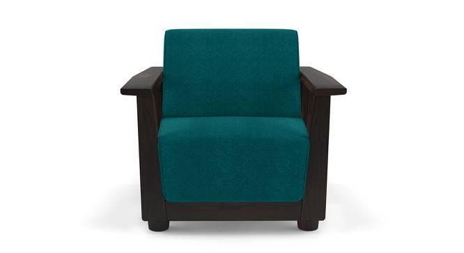 Serra Wooden Sofa - 3-1-1 Set (Mahogany Finish, Malibu) by Urban Ladder