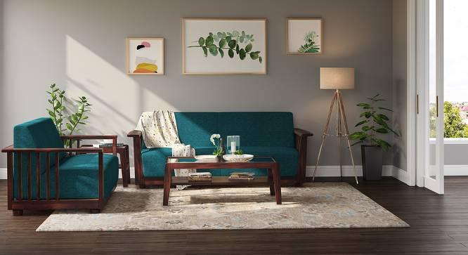Serra Wooden Sofa - 3-2 Set (Mahogany Finish, Malibu) by Urban Ladder