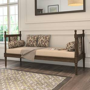 Louise Day Bed (Vintage Brown Oak Finish, Purple Iris)